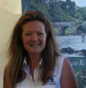 Cathryne Boyes, Qualified Casting Instructor, Brookhall Fishery, Co Antrim, Northern Ireland